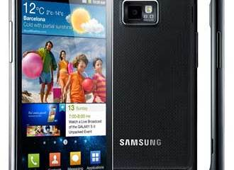 Samsung Galaxy S II - views of the front, back and side