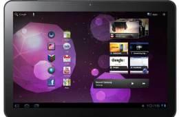 Samsung Galaxy Tab 10.1, front view