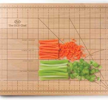 The OCD Chef Cutting Board from Fred & Friends