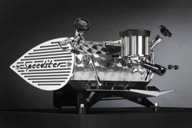 Kees Van Der Westen Speedster coffee machine, black, front angle