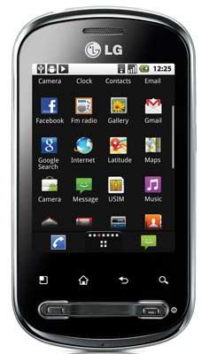 LG Optimus Me, Android smartphone