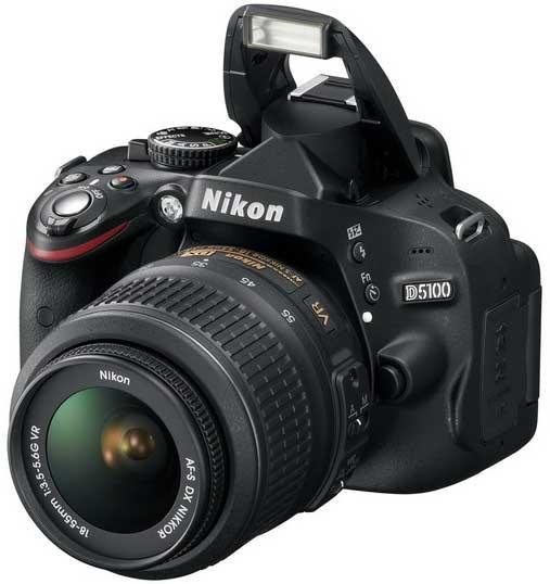 Nikon D5100 digital SLR camera - front angle