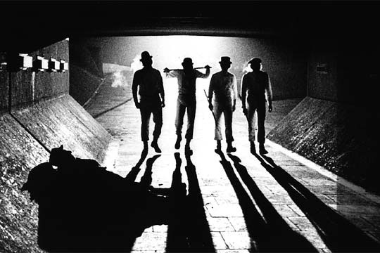 A Clockwork Orange still, Alex and his droogs