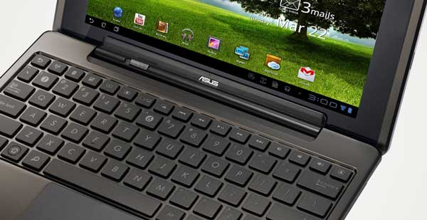 Asus Eee Pad Transformer, keyboard closeup