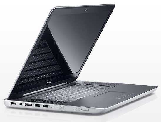 Dell XPS 15z notebook computer, front angle view