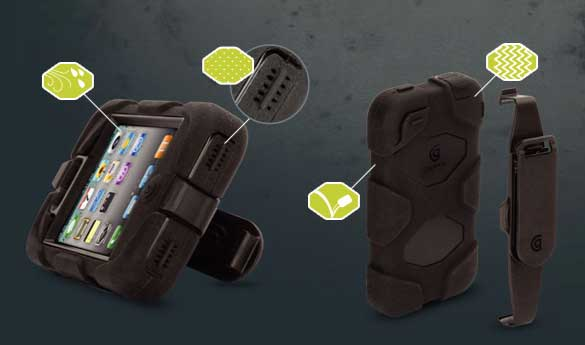 Griffin Survivor - heavy duty iPhone 4, iPod Touch & iPad 2 case