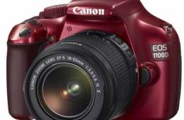 Canon 1100D Red Limited Edition DSLR camera, front angle