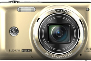 GE E1410 digital camera, champagne colour