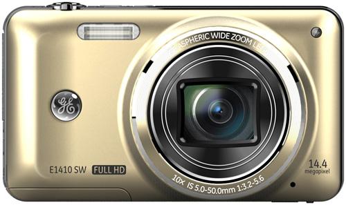 GE E1410 digital camera, champagne colour