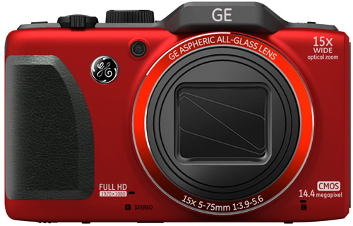 GE G100 digital camera, red colour