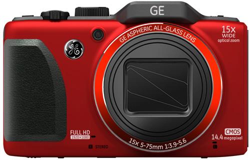 GE G100 digital camera, red colour