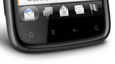 HTC Sensation, physical and on-screen buttons