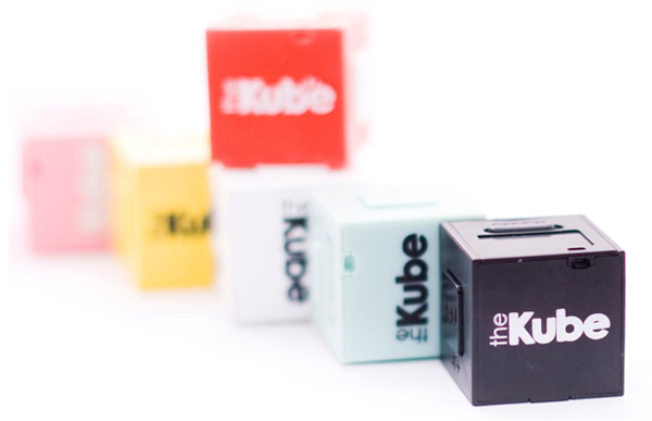The Kube MP3 player, colour range