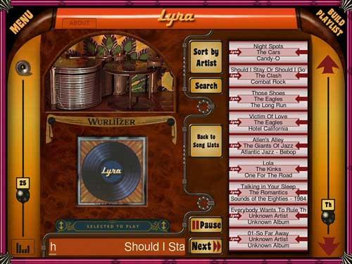 Wurlitzer Lyra's touchscreen