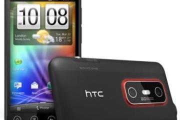 HTC Evo 3D - front and back views