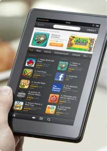 Kindle Fire game screen closeup