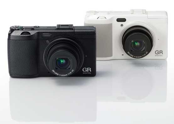 Ricoh GR Digital IV digital camera, black and white models