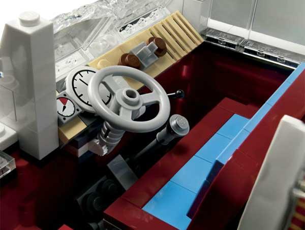 Lego Volkswagen T1 Camper Van, drivers seat