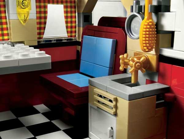 Lego Volkswagen T1 Camper Van, kitchen