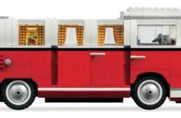 Lego Volkswagen T1 Camper Van, side view