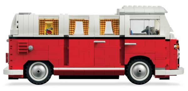 lego volkswagen t1 camper van blocky motoring nostalgia. Black Bedroom Furniture Sets. Home Design Ideas