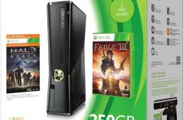Microsoft Xbox 360 250GB holiday pack, box shot