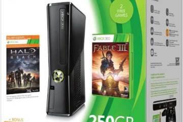 Microsoft Xbox 360 250GB holiday pack, box shot