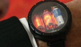 Nixie Watch closeup