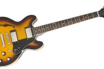 Epiphone Ultra-339 guitar, Vintage Sunburst colour