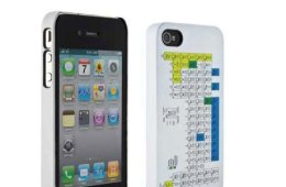 Periodic Table iPhone case closeup