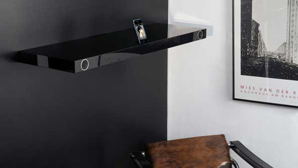 Hohrizontal 51 speaker shelf, black