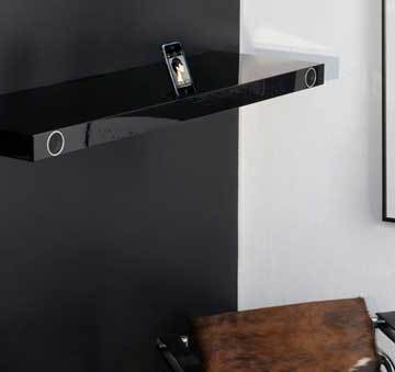 Hohrizontal 51 speaker shelf, black