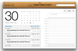 Apple's iCal skin, as shipped with Mac OSC Lion
