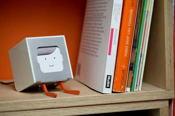 BERG Little Printer, on a shelf