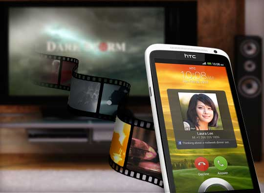 HTC One X, with DNLA