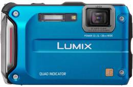 blue Panasonic DMC-FT4 digital camera, front