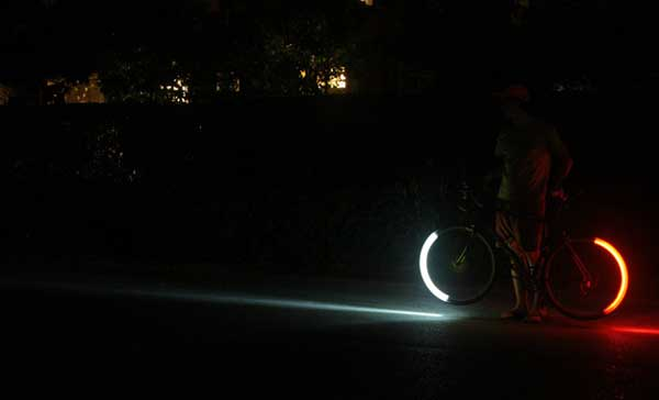 Revolights bicycle lights, side on view