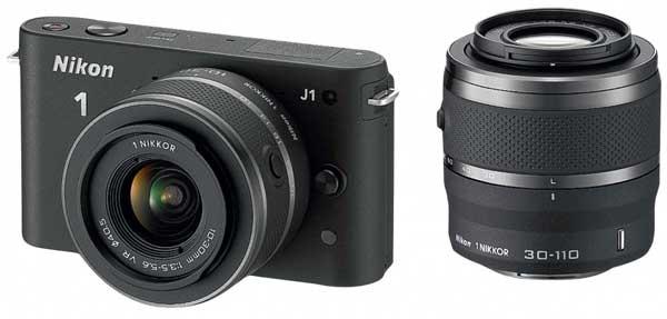 Nikon 1 J1, black twin lens kit