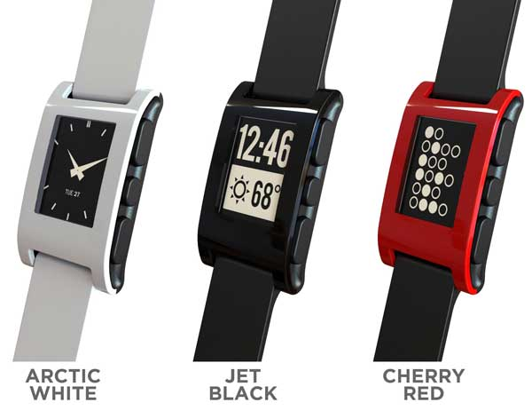 Pebble-epaper-watch-iPhone-Android-colours-side