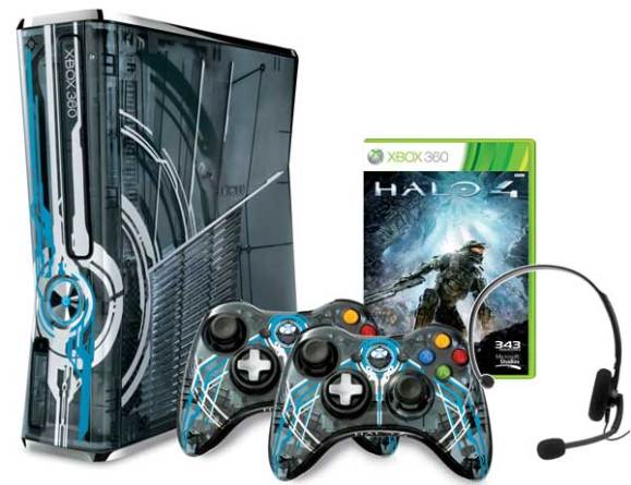 Contents of the Xbox 360 Halo 4 Limited Edition