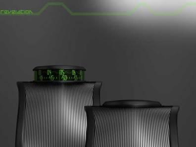 Sam Jerichow Revelation Watch design for Tokyoflash, green display