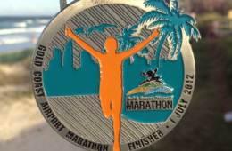 Gold Coast Marathon medal, 2012