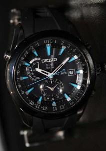 Seiko Astron GPS watch, blue face