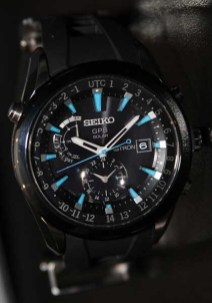 Seiko Astron GPS watch, blue face
