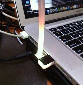 blink(1) LED for USB, Kickstarter project, with a light pipe hack