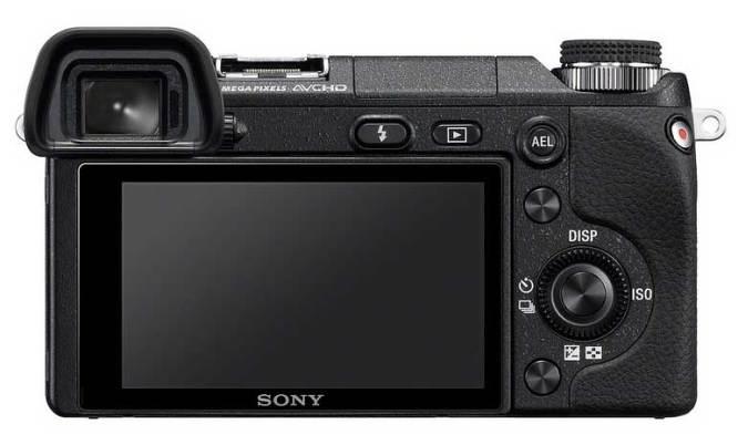 Sony Alpha NEX-6 compact system camera, back view