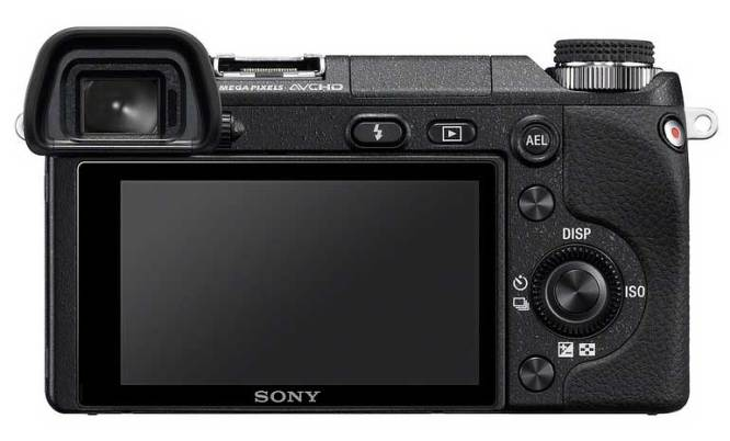 Sony Alpha NEX-6 compact system camera, back view