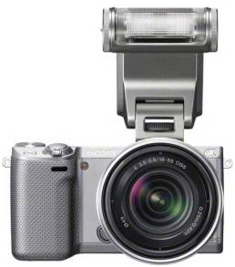 Sony-NEX5R-silver-front-flash