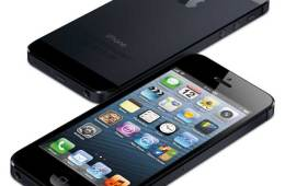 iPhone 5 front and back views