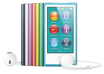 iPod nano 2012 model, colour range